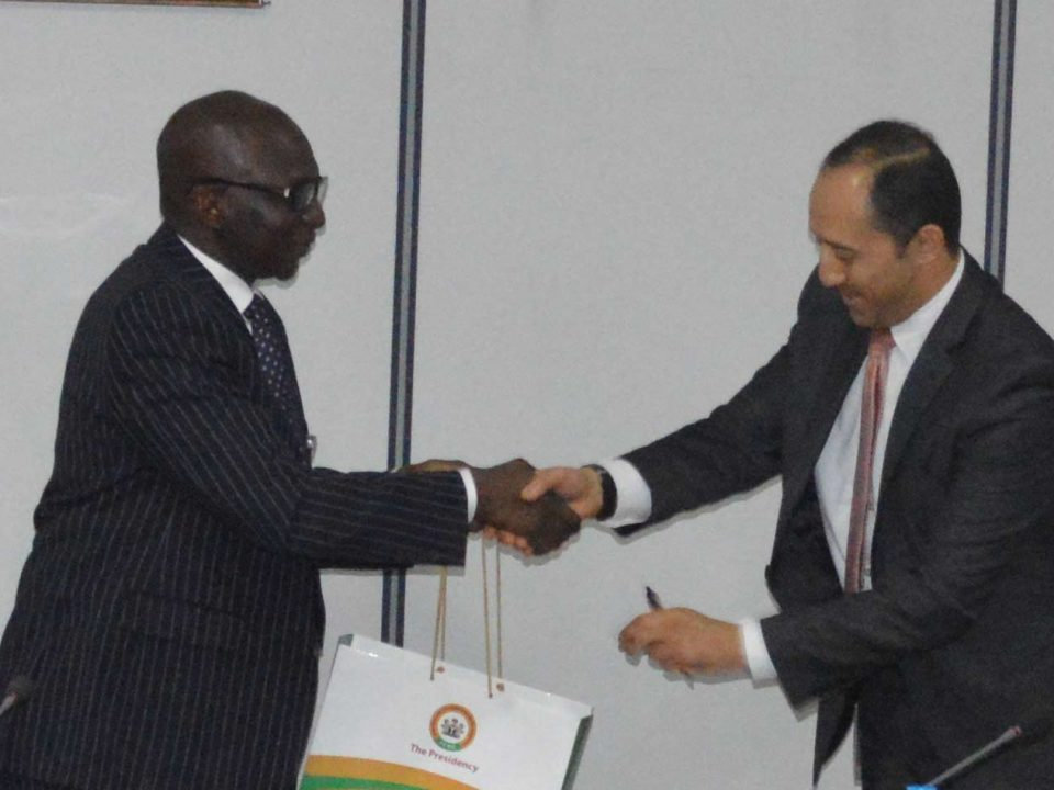 (L –R) ICRC DG, Mr. Aminu Diko with Mr. Moataz Elsaid, Senior Economist of the African Department, IMF in Nigeria