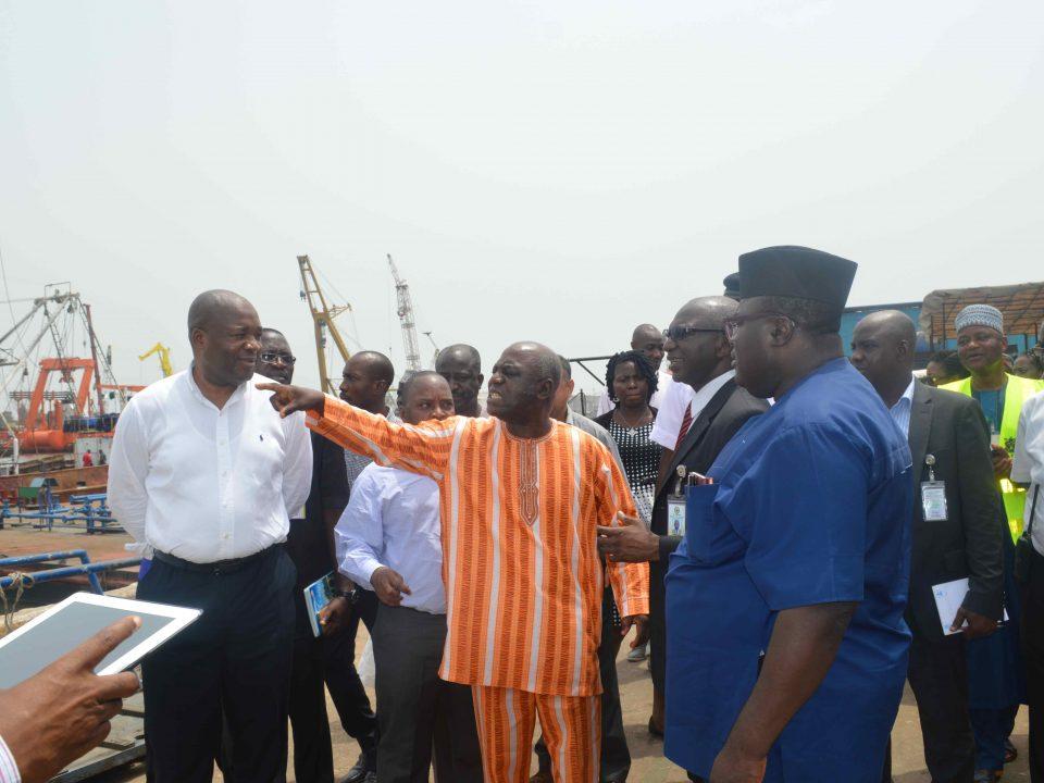 ICRC delegation at Kirikiri lighter terminals in Lagos